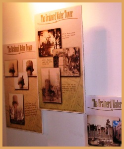 The Brainerd Water Tower display, volunteer designed.